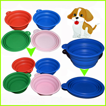 Silicone dobrável Pet Dog Ou Cat Bowl