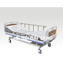 (A-60) --Movable Double-Function Manual Hospital Bed with ABS Bed Head