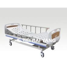 (A-60) - Мощная двухфункциональная ручная больничная койка с головкой из ABS-кровати