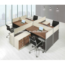 Square 4 seater melamine wooden workstation 08