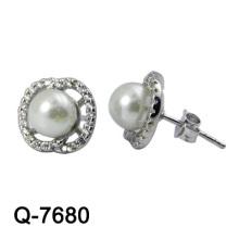 Modeschmuck 925 Sterling Silber Ohrring Rhodium Plaling