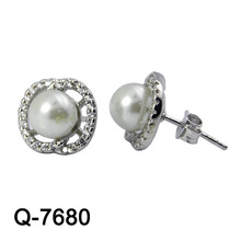 Fashion Jewelry 925 Sterling Silver Earring Rhodium Plaling