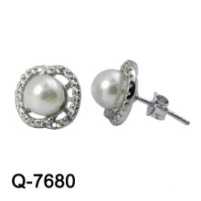 Moda Jóias 925 Sterling Silver Earring Rhodium Plaling
