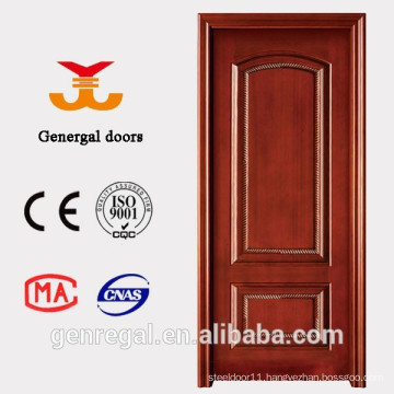 Natural noble style interior solid wooden veneer door