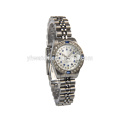 shining blue stones convex crystal glass beautiful watches for ladies