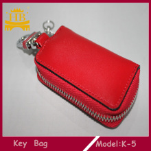 Handmade Zip Closure Business Leather Key Wallet Bag