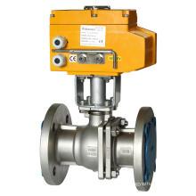 GB Conexión de brida estándar - Válvula de bola eléctrica de alta temperatura