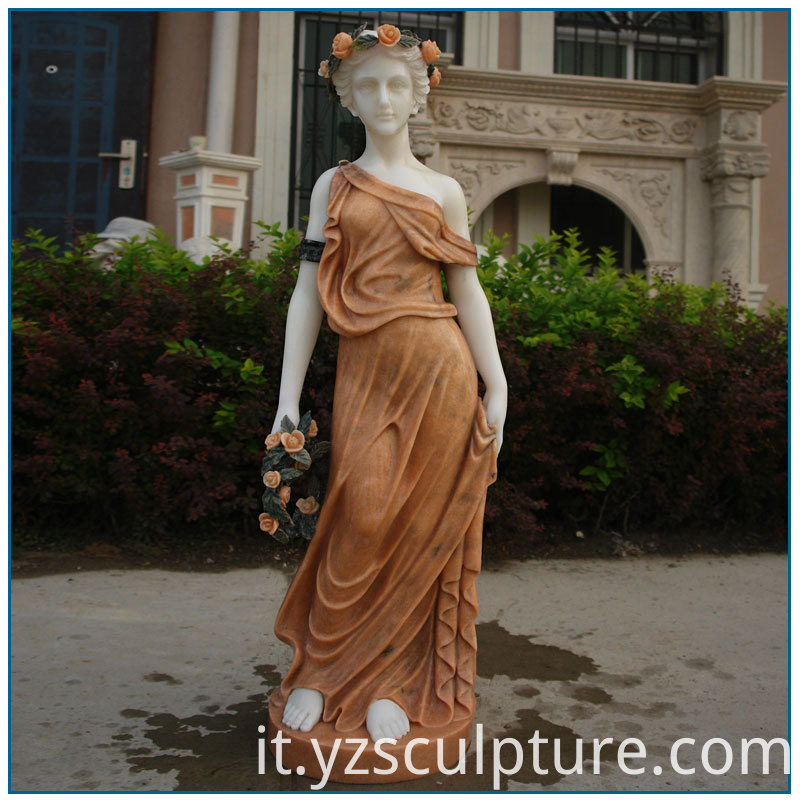 marble girl statue