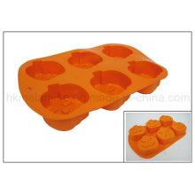 Molde en forma de calabaza de la torta del silicón (RS06)