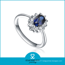 Fashion Blue Sapphire Natural Gemstone Ring