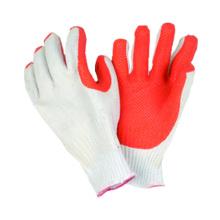 7g T / C Liner Handschuh mit Latex auf der Palme beschichtet