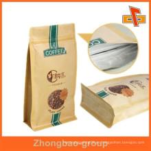La mejor calidad de papel marrón fuerte papel cuadrado inferior bolsa de papel