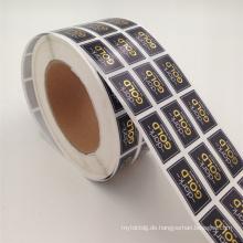 Goldfolie-Druckpapieraufkleber für kosmetische Flaschenversiegelung