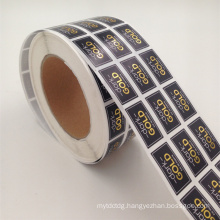 Gold foil printing paper sticker for cosmetic bottle sealing
