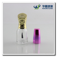 20ml Clear Empty Glass Nail Polish Bottle with Caps and Brush