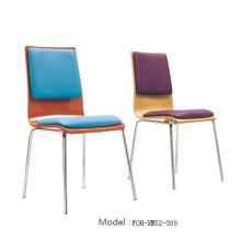 Venta al por mayor de muebles de restaurante blanco apilando silla de restaurante (FOH-XM51-494)