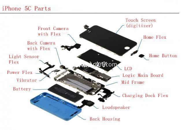 iPhone 5C parts list