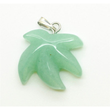 Maple Leaf Shape Green Aventurine pendant