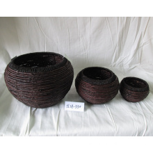 Drum-like Coffee Maize Rope Basket