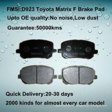 Plaquette de frein à disque Toyota Matrix de qualité OE D923
