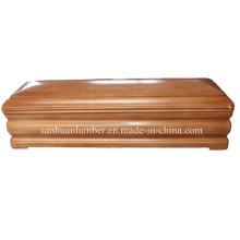 Produto de funeral de madeira caixões & caixão / novo modelo Euro-estilo caixão de madeira