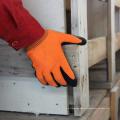 Guantes de trabajo revestidos de látex de alta visibilidad Resistencia suave a la manipulación Resistencia cómoda a la espuma Guantes de protección Manufacturas