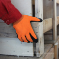 High Visibility Latex Coated Work Gloves Soft Handiness Resistance Comfortable Foam Safety Protective Gloves Manufactures