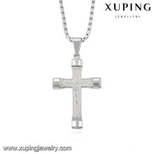 32731 Fashion Cool Silver-Plated Stainless Steel Jewelry Chain Cross Pendant