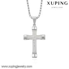 32731 moda legal prateado de aço inoxidável jóias cadeia pingente de cruz
