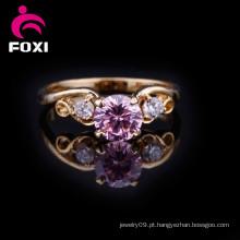 Anel de dedo de casamento de Design de moda ouro