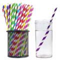 Paja al por mayor del papel del color de Eco de la categoría alimenticia, paja de beber de papel biodegradable