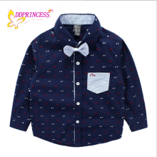 wholesales boy's long sark children cotton shirt kids' clothing