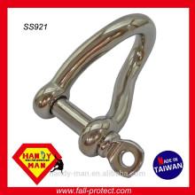 Acier inoxydable 316 Screw Pin Twisted Shackle