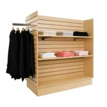 4 Way Slatwall Clothing Display Shelving Stand