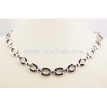 Fashion jewelry Simple surgical steel long silver necklace chain