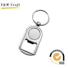 Logotipo personalizado personalizado e forma de metal abridor de garrafas keychain (y03007)