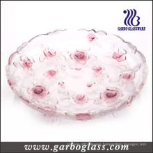 Red Rose Glass Plate (GB1708MG/PDS)