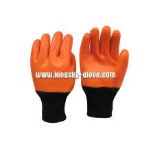 Gant d'hiver enduit de PVC de revêtement de mousse de finition lisse-5124