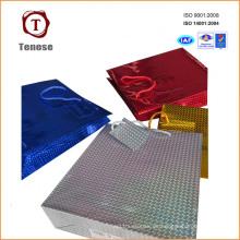 Bolso de encargo colorido del regalo de las compras de papel de la alta calidad