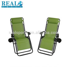 Outdoor Lounge Outdoor Garden Reclining Camping Chair Comfortable Zero Gravity Chair