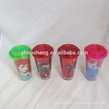alta calidad de hermosa tazas de plástico pequeños con tapas