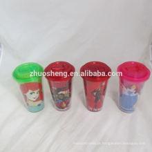 copos de plástico pequeno de alta qualidade linda com tampas