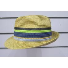 Chapéus coloridos de Fedora da trança do papel fino