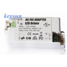 AC-DC 6W 500mA 12V AC-DC Voltagem constante LED Driver Fonte de alimentação