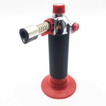 Gás recarregável vermelho flamethrower cigarro metal tocha isqueiro (es-tl-009)