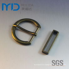 Custom D Style Single Pin Boucle de ceinture bon marché