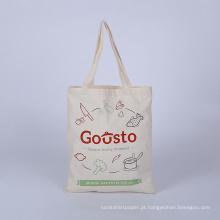 saco de compras de malha e saco de corda de algodão tropical reutilizável