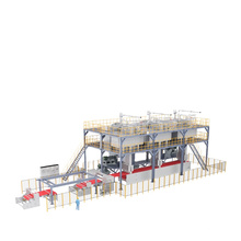 Machine à tissu non tissé durable et simple