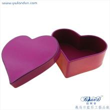 Elegant printing heart shape gift box