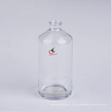 Bouteilles rondes en verre transparent Boston de 4 oz avec bouchon à vis